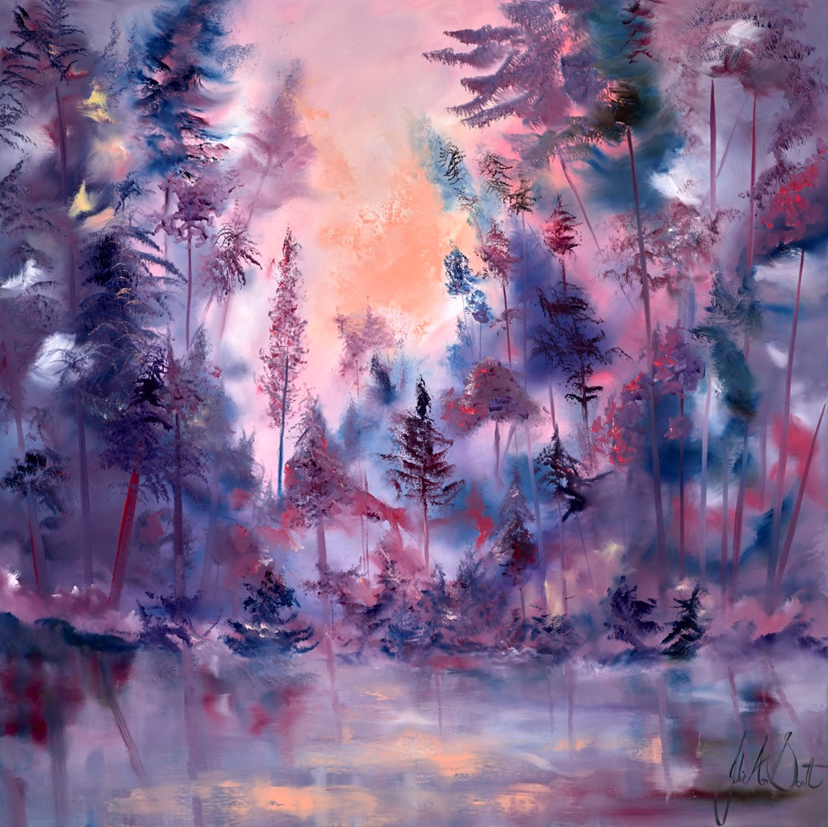 Through the Looking Glass II by julie ann scott -  sized 40x40 inches. Available from Whitewall Galleries